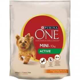 Purina ONE MINI Active Pienso para Perro Adulto Pollo y Arroz 800g