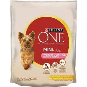 Purina ONE MINI Weigth Control Pienso para Perro Adulto Pavo y Arroz 800g