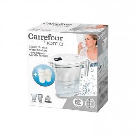 Pack Jarra de filtración de agua CARREFOUR HOME 3,3 L. con 1 Filtro- Blanca