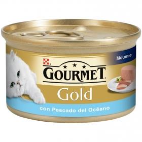 Purina Gourmet Gold Comida Húmeda para Gato Mousse Pescado del Oceano 85g