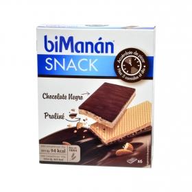 Snack de Chocolate Negro y Praliné