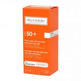 Fluido solar antimanchas FP 50+ para piel normal-seca