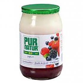Yogur de frutas del bosque ecológico Pur Natur 150 g.