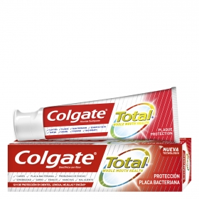 Dentífrico Total protección placa bacteriana Colgate 75 ml.