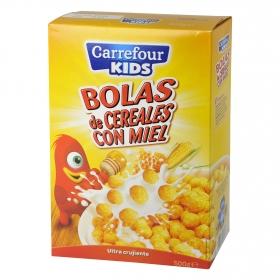 Cereales de bolas con maíz y miel