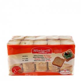 Biscottes mini Familiar Minigrill pack de 2 unidades de 120 g.