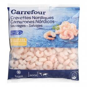 Camarón cocido pelado Carrefour 200 g.