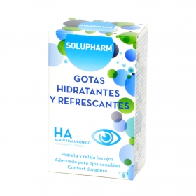Gotas Hidratantes y refrescantes Ácido Hialurónico Solupharm 10 ml.