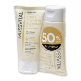 Crema de manos muy secas y agrietadas Dermactive Mussvital pack de 2 unidades de 50 ml.