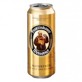 Cerveza Franziskaner Weissbier Naturtrüb lata 50 cl.