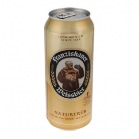 Cerveza Franziskaner Weissbier Naturtrüb lata