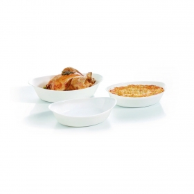 Set 3 Fuentes Ovales Smart Cuisine LUMINARC - Blancos