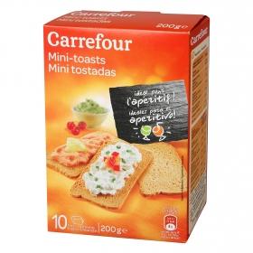 Mini tostadas Carrefour 200 g.