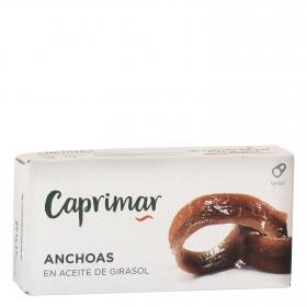 Filetes de anchoas en aceite vegetal Caprimar 23 g.