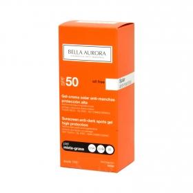 Gel-crema solar antimanchas FP 50 para piel mixta-grasa