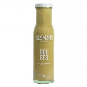 Salsa de setas y boletus ecológica Sesmans sin gluten botella 240 g.