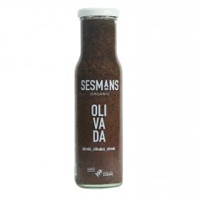 Salsa olivada ecológica Sesmans sin gluten botella 240 g.