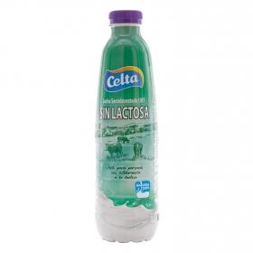 Leche semidesnatada Celta sin lactosa botella 1 l.