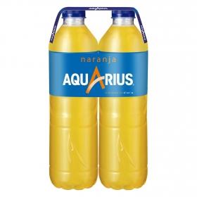 Bebida Isotónica Aquarius sabor naranja pack de 2 botellas de 1,5 l.