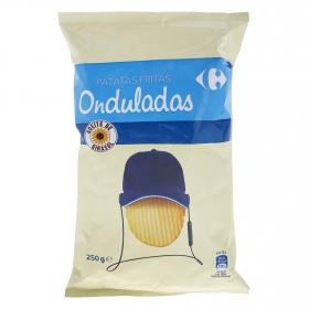 Patatas fritas onduladas Carrefour 250 g.