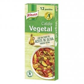 Caldo vegetal en aceite de oliva virgen extra Knorr sin gluten 12 ud.
