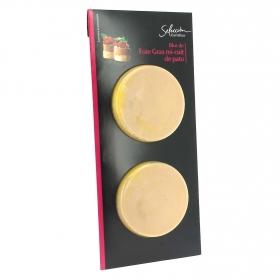 Foie gras de pato Mi-cuit bloc Carrefour Selección pack de 2 unidades de 40g