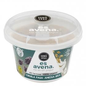 Postre de avena sabor ciruelas pasas Sun & Vegs sin lactosa 180 g.