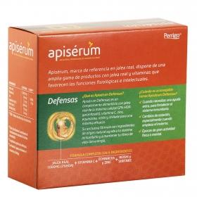 Complemento alimenticio con jalea Defensas Apisérum sin gluten sin lactosa 18 viales.