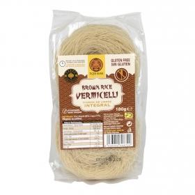 Fideos de arroz integral Vermicelli Tiger Khan sin gluten 180 g.