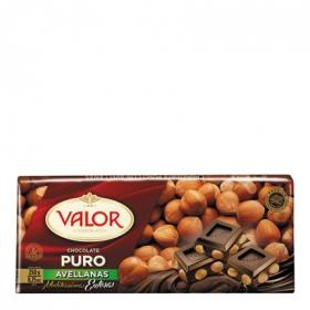 Chocolate puro con avellanas