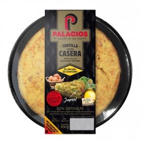 Tortilla de patatas con espinacas Palacios 650 g. 650 g.