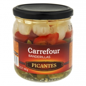 Banderillas picantes Carrefour 150 g.