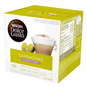 Café cappuccino light en cápsulas Nescafé Dolce Gusto 8 unidades de 20,2 g.