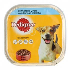Comida para perros. Tarrina Pedigree 300gr con Cordero y Pollo