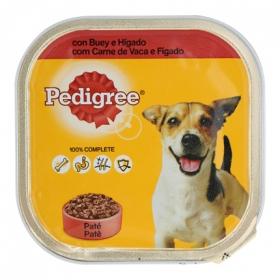 Comida para perros. Tarrina Pedigree 300gr con Buy e Higado