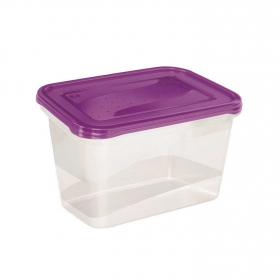 Set de Recipiente Rectangular de Plástico  2 L Transparente