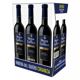 Vino D.O. Ribera del Duero tinto crianza Mayor de Castilla pack de 6 botellas de 75 cl.