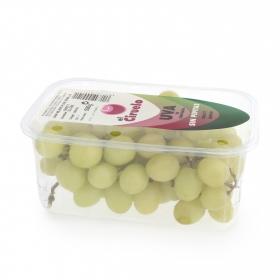 Uva blanca selecta sin pepitas Carrefour tarrina 500 g
