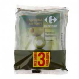 Aceitunas verdes manzanilla sin hueso