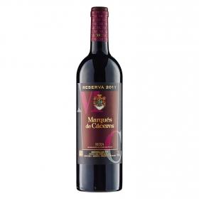 Vino D.O. Rioja tinto reserva Marqués de Cáceres 75 cl.