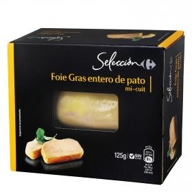 Foie Gras entero de pato mi-cuit Carrefour Selección 125 g.