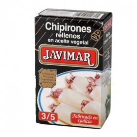 Chipirones rellenos en aceite vegetal Javimar 72 g.