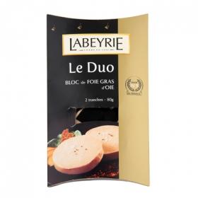 Duo foie gras de oca Labeyrie 80 g.