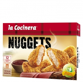 Nuggets de pollo, con salsa barbacoa