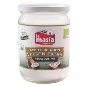 Aceite de coco virgen extra ecológico La Masía tarro 430 ml.