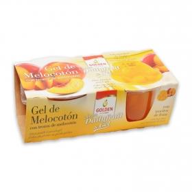 Gel de melocotón con trocitos de fruta Golden 240 g.