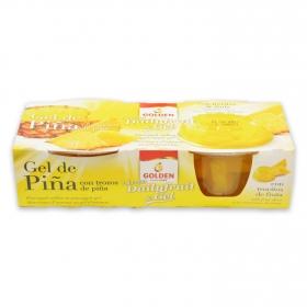 Gel de piña con dados de piña Golden 240 g.