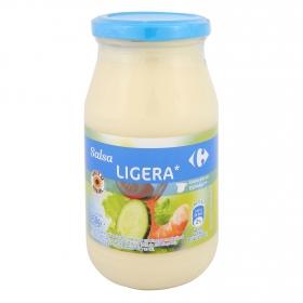 Salsa ligera con aceite de girasol Carrefour tarro 450 ml.
