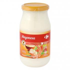Mayonesa con aceite de girasol Carrefour tarro 450 ml.