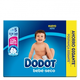 Pañales T5 (11-16 kg.) Dodot 168 ud.